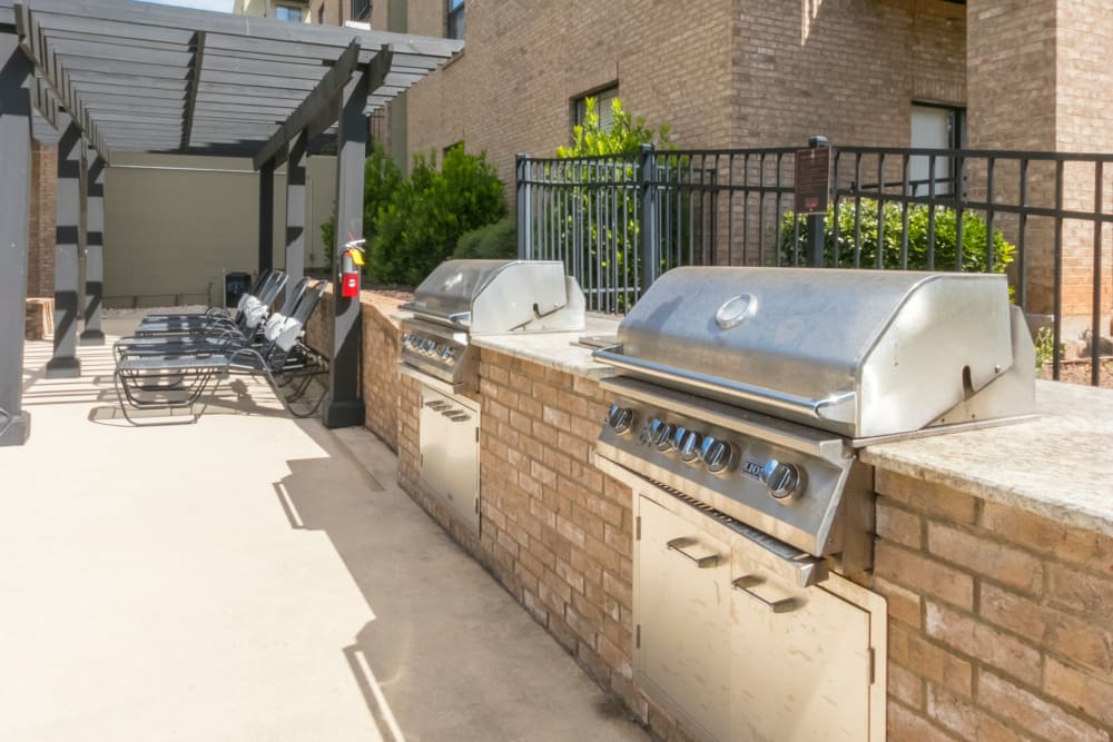 Grilling stations at McBee Station in Greenville, South Carolina