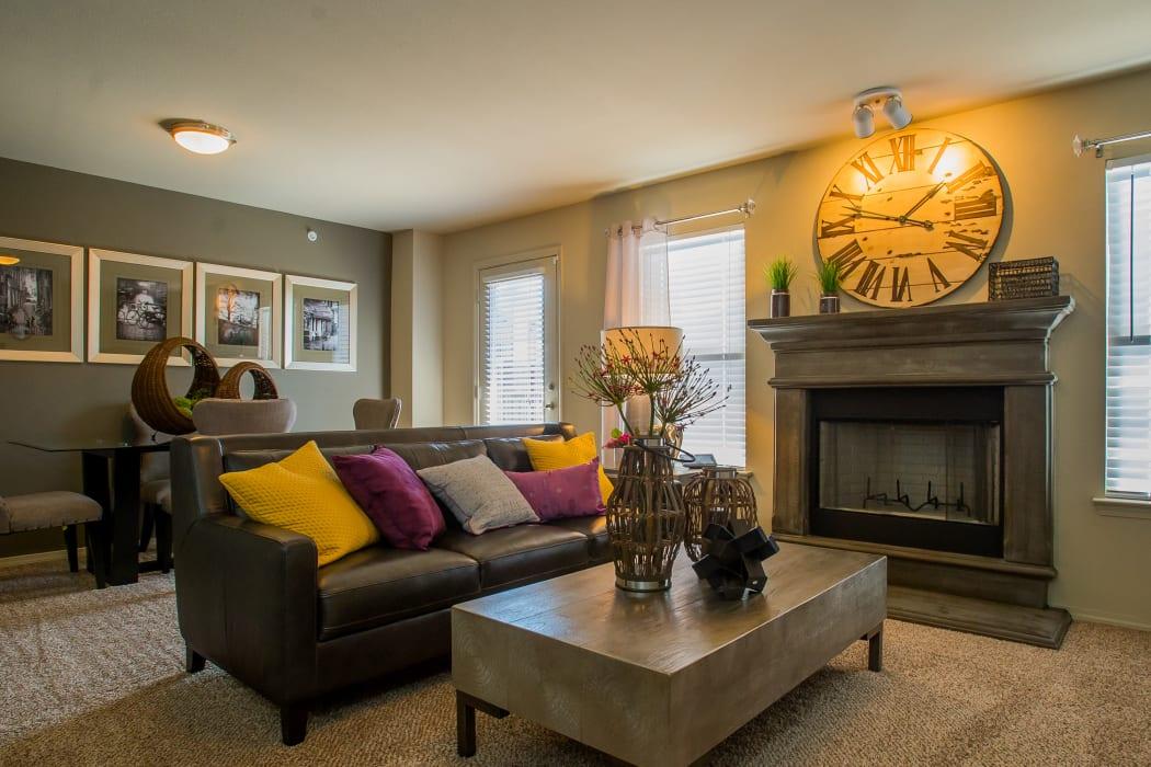 Living room at Icon at Broken Arrow in Broken Arrow, Oklahoma