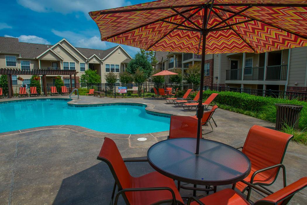Beautiful pool at Nickel Creek Apartments in Tulsa, Oklahoma