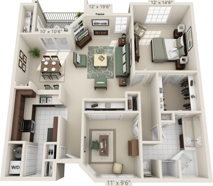 1-Bedroom Apartment at Meridian Apartments in San Antonio