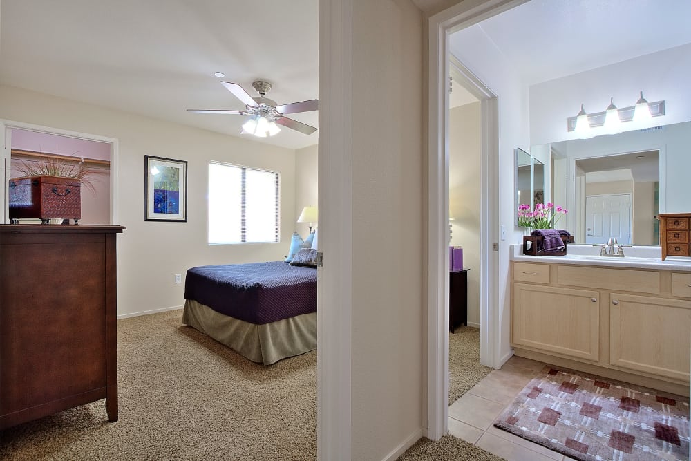 Cielo Apartment Homes offers a beautiful bedroom in Henderson, Nevada
