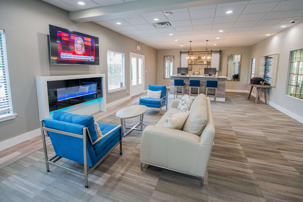 Luxury tv lounge at Council Place Apartments in Oklahoma City, Oklahoma