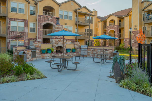 Outdoor clubhouse at Watercress Apartments