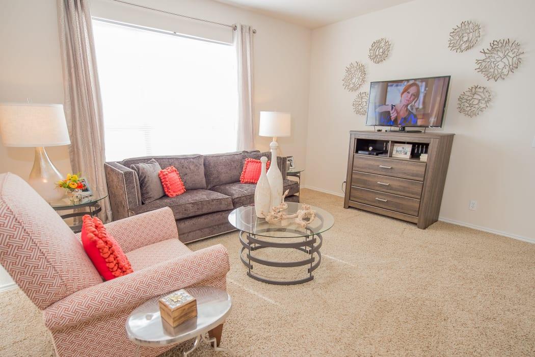 Living room at Prairie Springs in Oklahoma City, Oklahoma
