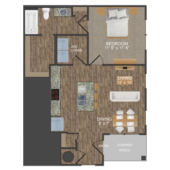 Hunter III floor plan at Callio Properties in Chattanooga, Tennessee