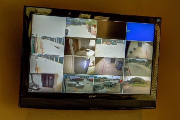 Surveillance footage at Lockaway Storage in San Antonio, Texas