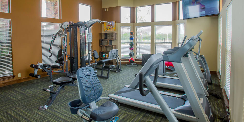 Fully equipped fitness center at Icon at Corpus Christi in Corpus Christi, Texas