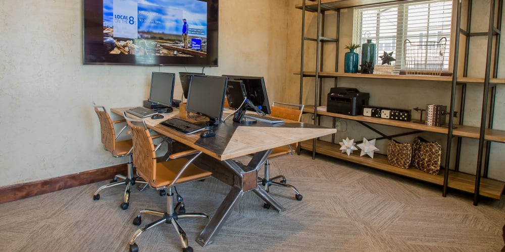 Business center for residents at Tuscany Ranch in Waco, Texas