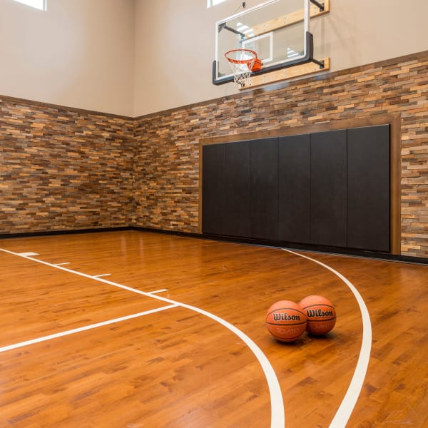 Onsite basketball court at Solana Stapleton Apartments in Denver, Colorado