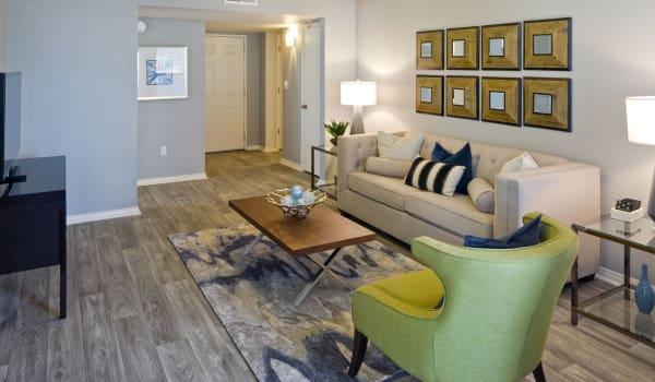 Living room at La Ventana Apartment Homes in Albuquerque