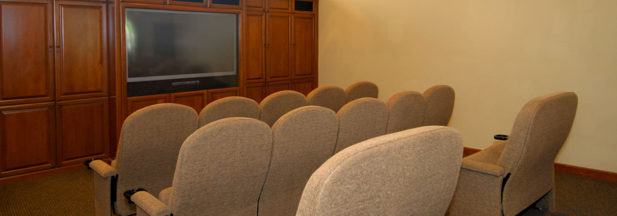 Theater room at Remington Ranch in Litchfield Park, Arizona