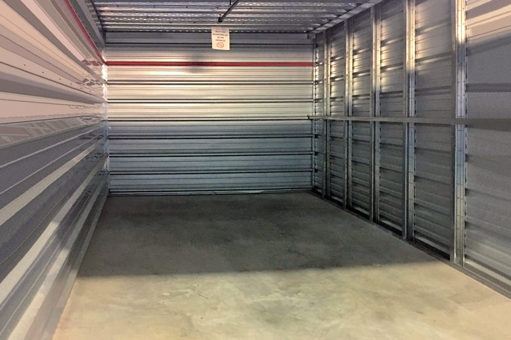 Interior view of unit at Prime Storage in Mechanicville, New York