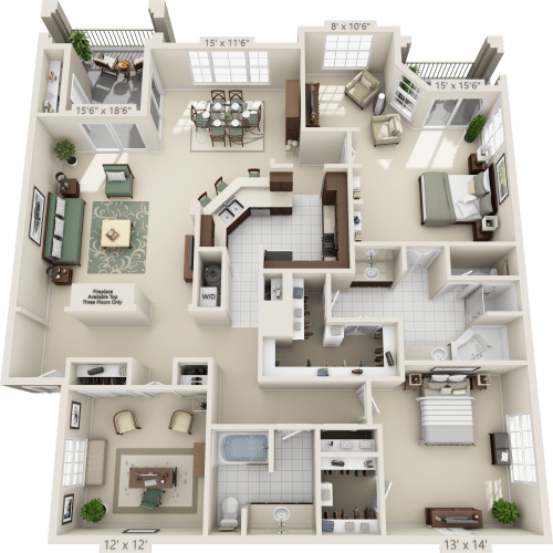 Three Bedroom Rentals: Luxury 1, 2 & 3 Bedroom Apartments In San Antonio, TX