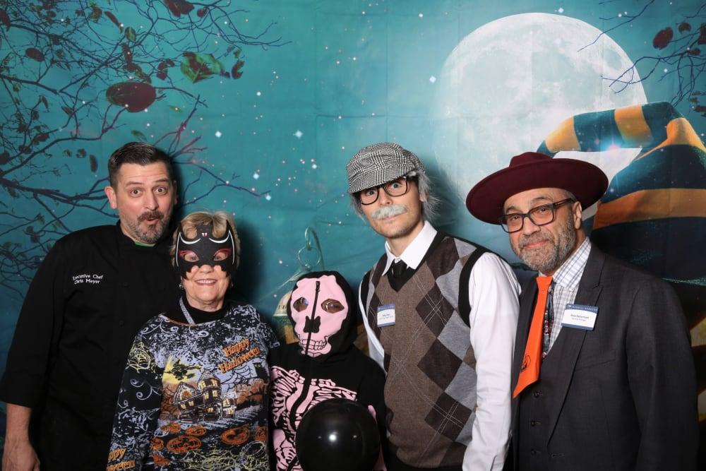 Staff dressed up for halloween at Merrill Gardens at Auburn in Auburn, Washington.