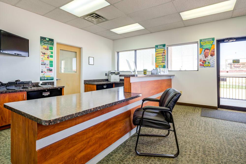Leasing office at Metro Self Storage in Lubbock, Texas