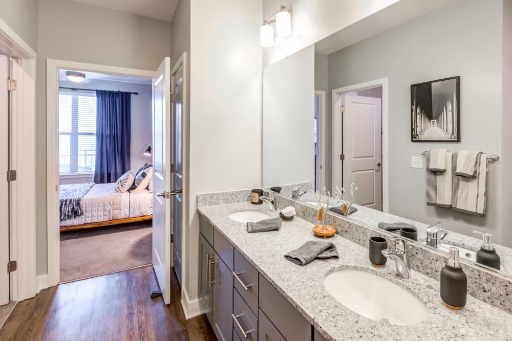 Well lit bathroom at Flats At 540 in Apex, North Carolina