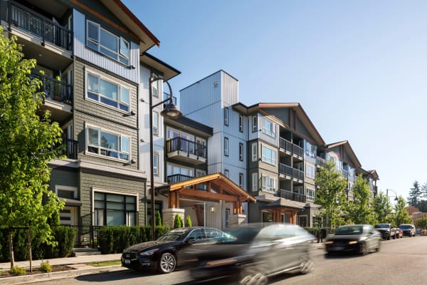 Exterior view of Northwoods Village in North Vancouver, BC