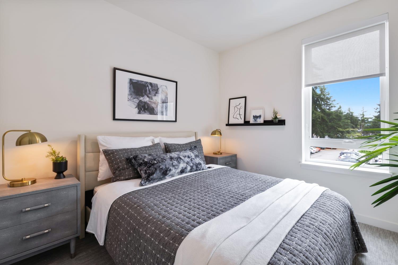 Spacious modern bedrooms at Nightingale in Redmond, Washington