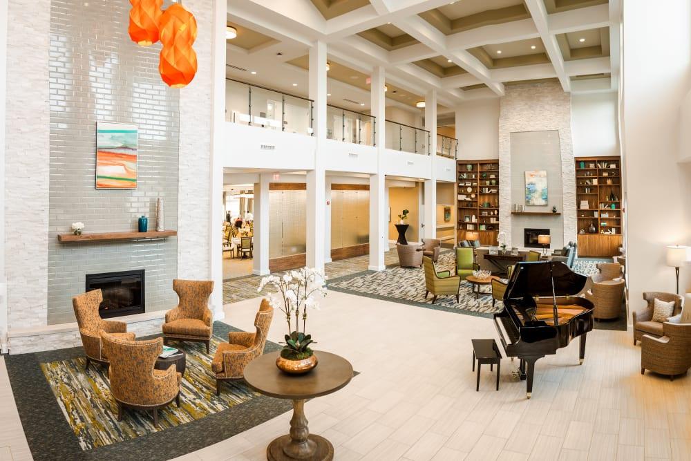 The lobby at Anthology of Mason in Mason, Ohio