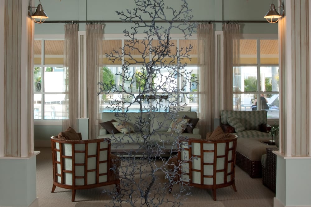 Clubhouse sitting area at Apartments in Orlando, Florida