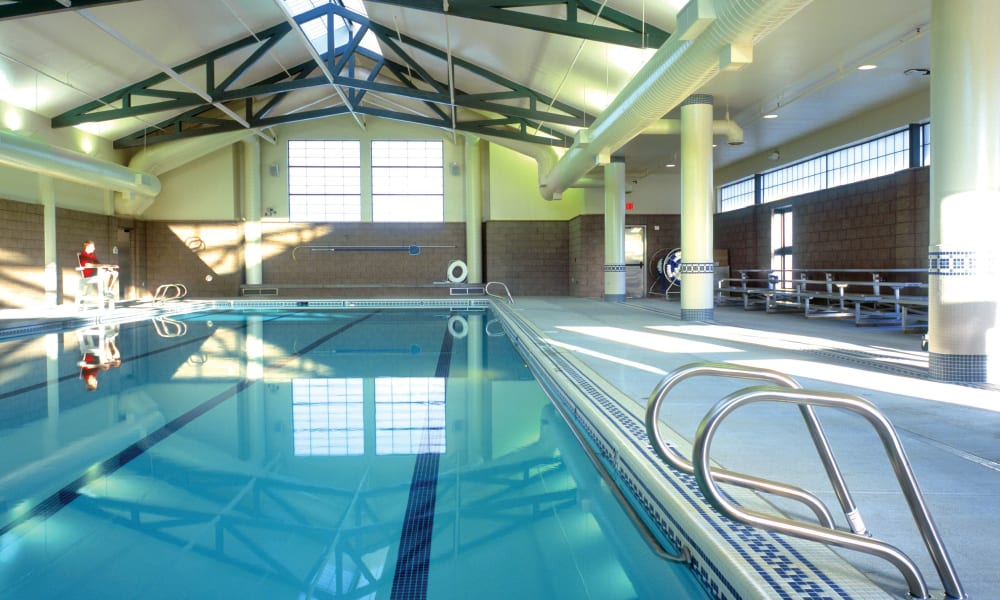 Resident swimming pool at Touchmark at Fairway Village in Vancouver, Washington