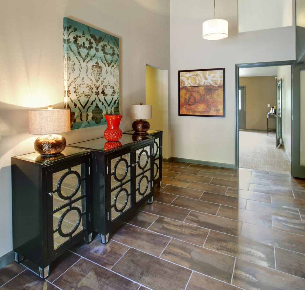 Entryway of Jasper Square Apartment Homes in Beaverton, OR