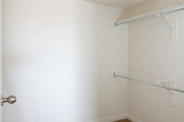 Walk-in closet at Ridgeview Apartments