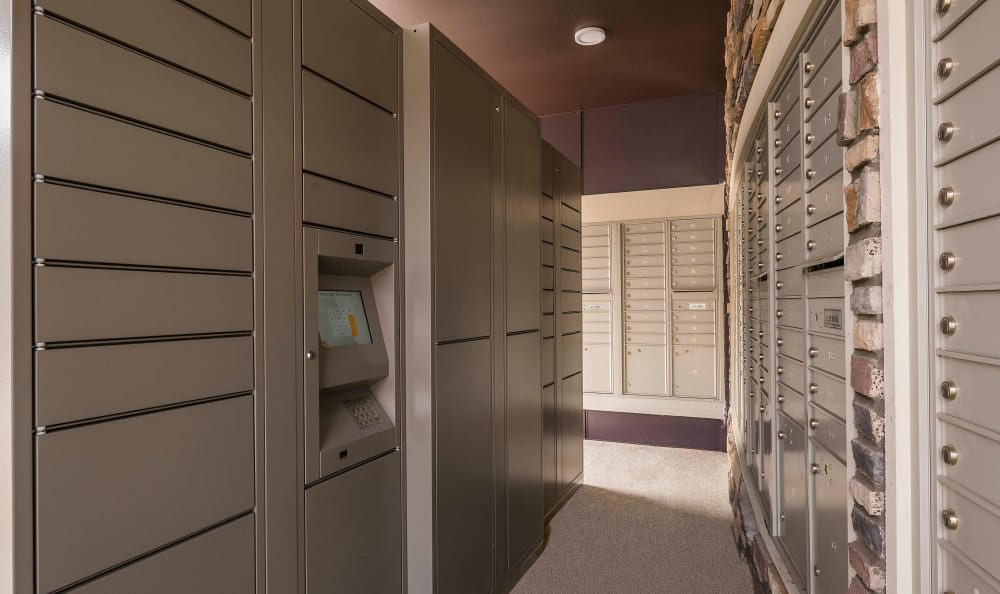 24-hour package lockers at Strata Apartments