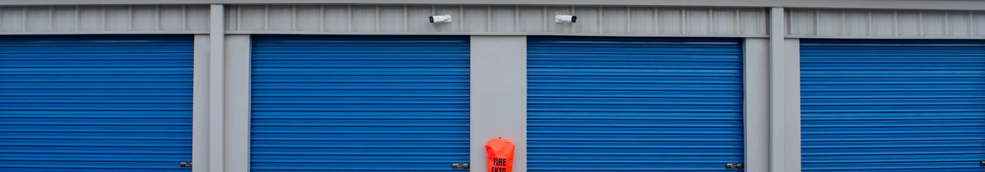 Outdoor storage at Atlantic Self Storage in Jacksonville, Florida
