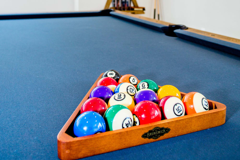 Play pool with friends at Bedford Hall