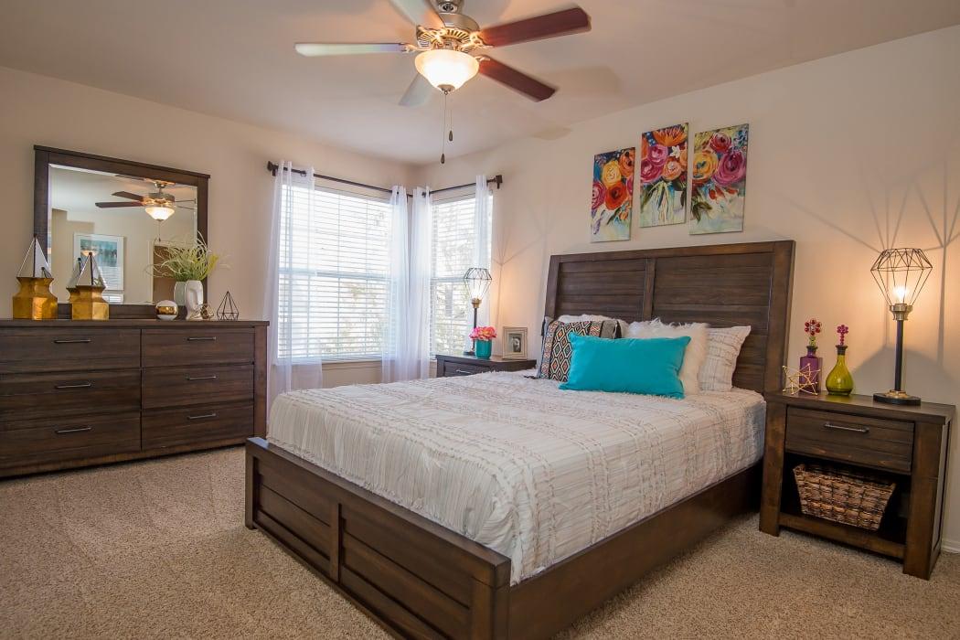 Bedroom at Villas at Aspen Park in Broken Arrow, Oklahoma