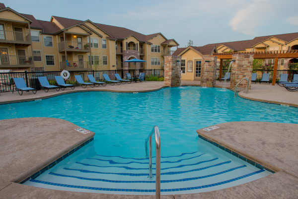 Swimming pool at Portico at Friars Creek Apartments in Temple, Texas