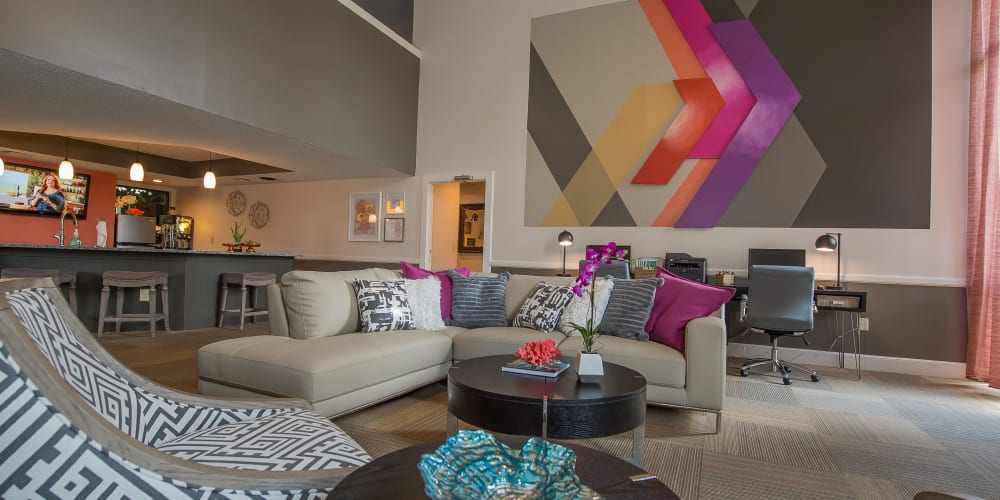 Well decorated clubhouse at Silver Springs Apartments in Wichita, Kansas