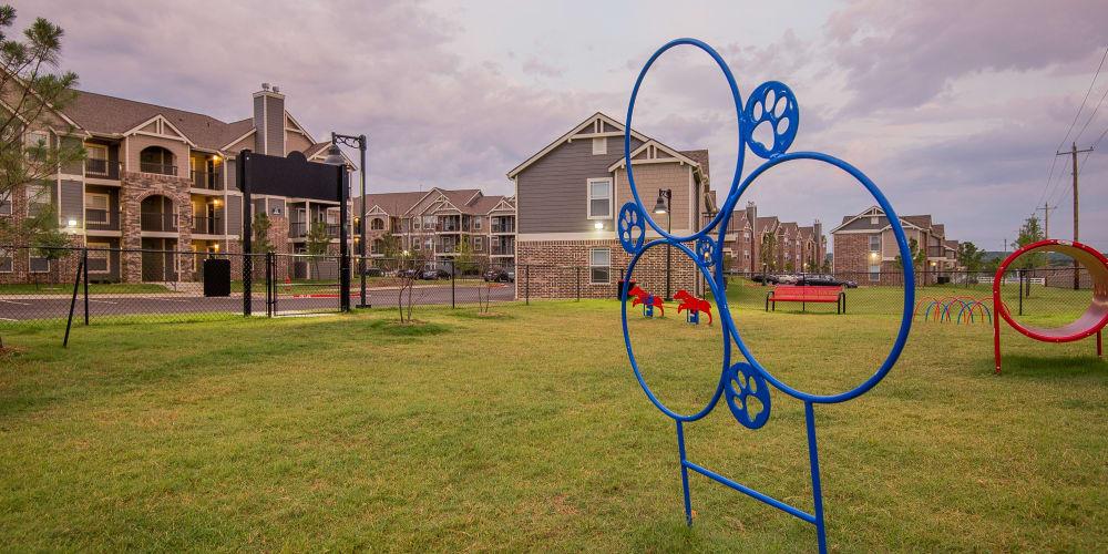 Large onsite dog park at Scissortail Crossing Apartments in Broken Arrow, Oklahoma
