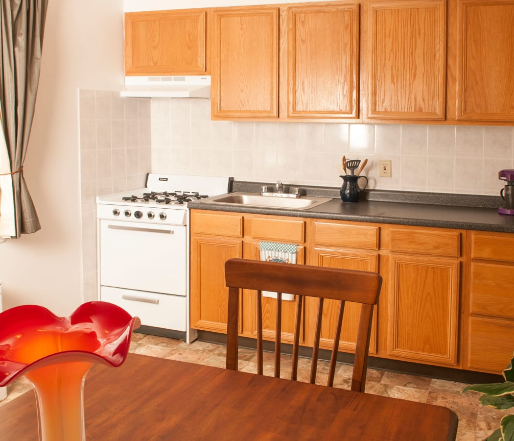 Kitchen at Oakmont Park Apartments in Scranton, Pennsylvania