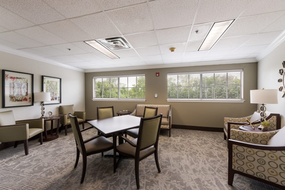 Activity room at Waterview Court in Shreveport, Louisiana.