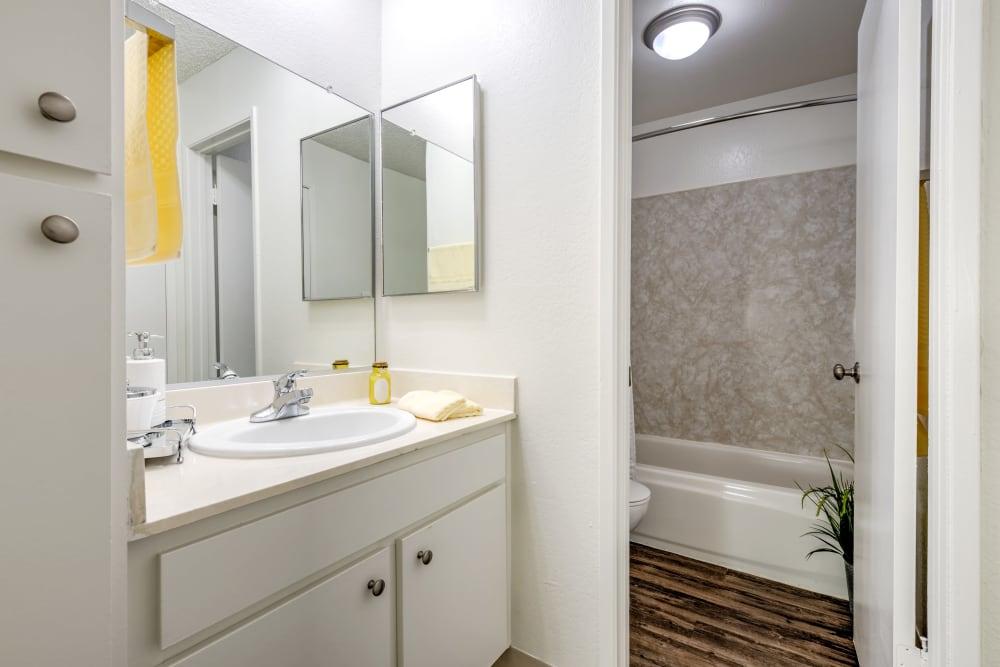 Bathroom at The Newporter in Tarzana, California