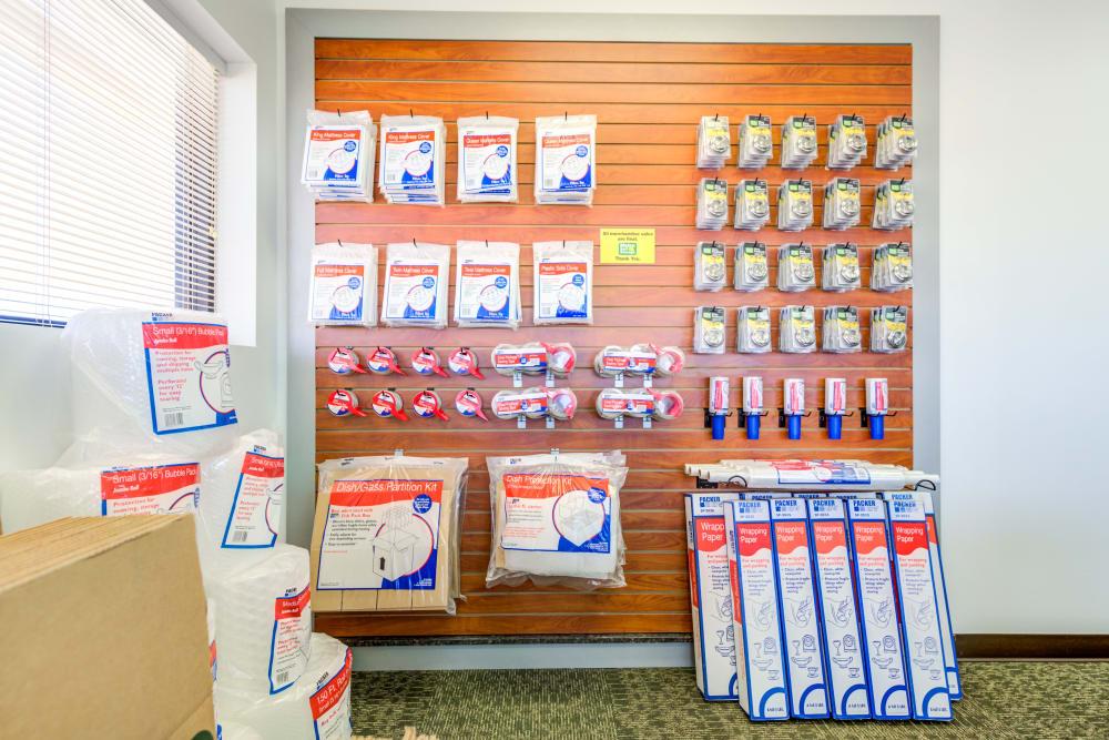 Packing supplies at Metro Self Storage in Lubbock, Texas