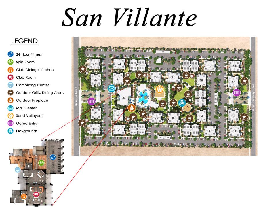 San Villante site plan