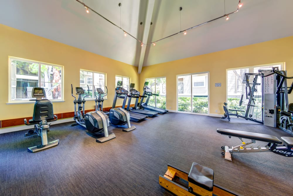 Enjoy our state-of-the-art apartments fitness center at Sofi Sunnyvale