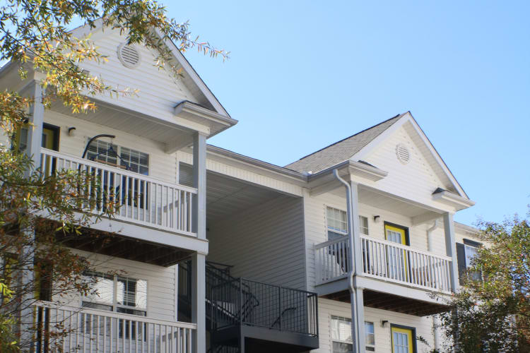 Exterior view of apartment buildings at The Gallery