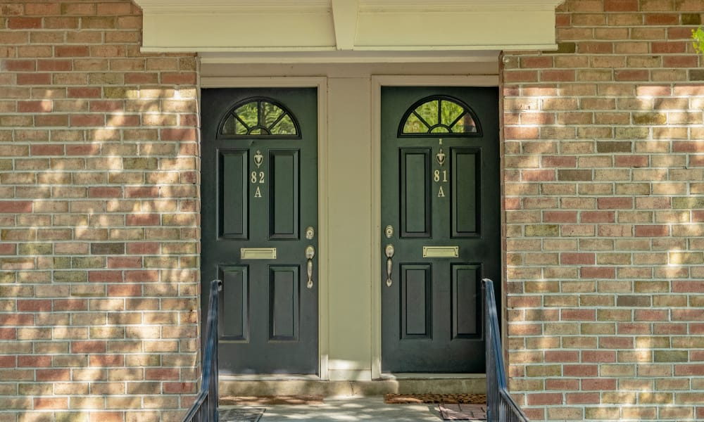 Twin doors entrance at Curren Terrace in Norristown, Pennsylvania