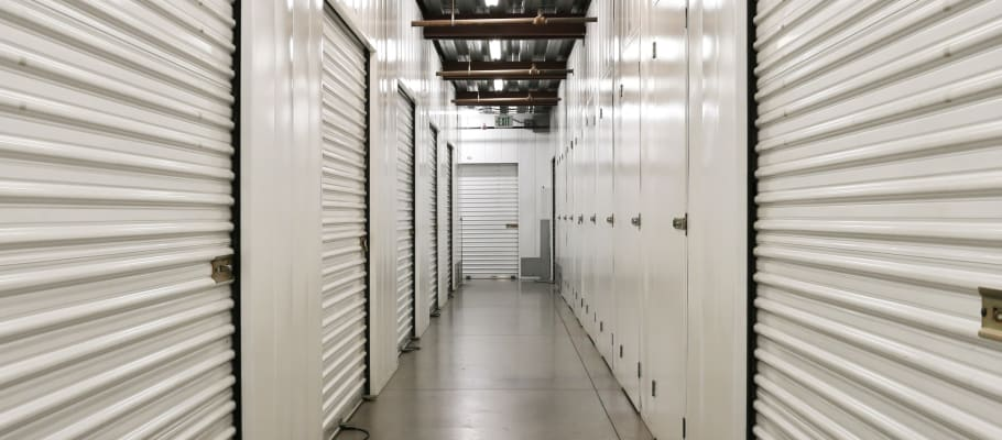 Indoor storage units at A-1 Self Storage in Glendale, California