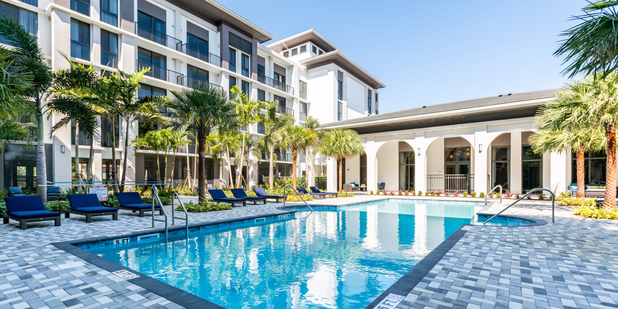 Resort Style Swimming Pool at at Solera at City Centre in Palm Beach Gardens, Florida