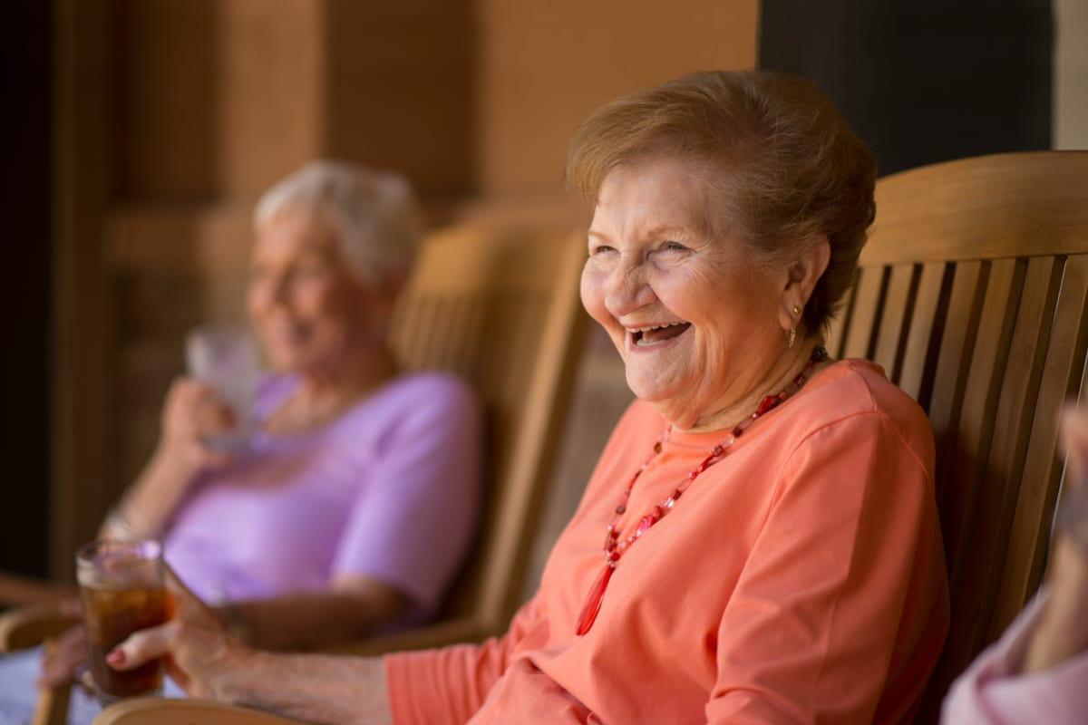Resident enjoying time outside at an Integrated Senior Lifestyles community