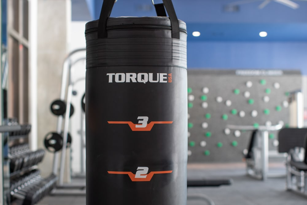 Punching bag in fitness center at  in San Antonio,TX