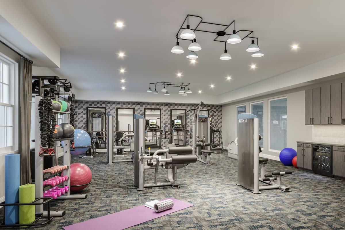 Fitness center at Monark Grove Clarkston in Clarkston, Michigan