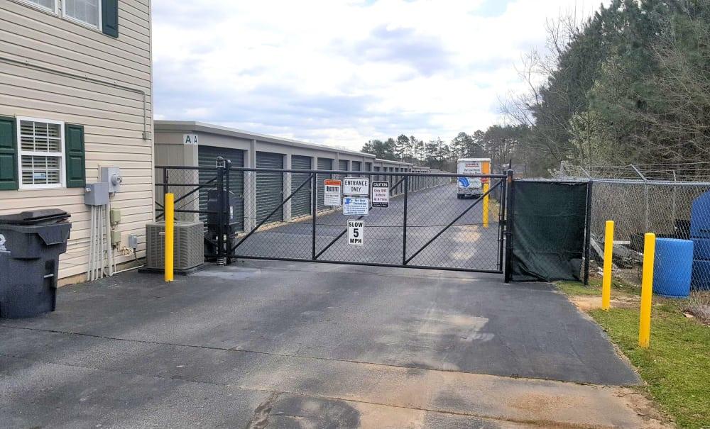 Security gate at Prime Storage in Greenville, South Carolina