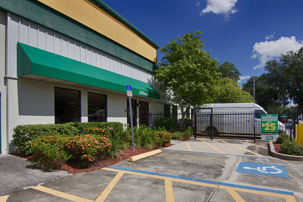 Handicap parking slot at Metro Self Storage in Sarasota, Florida