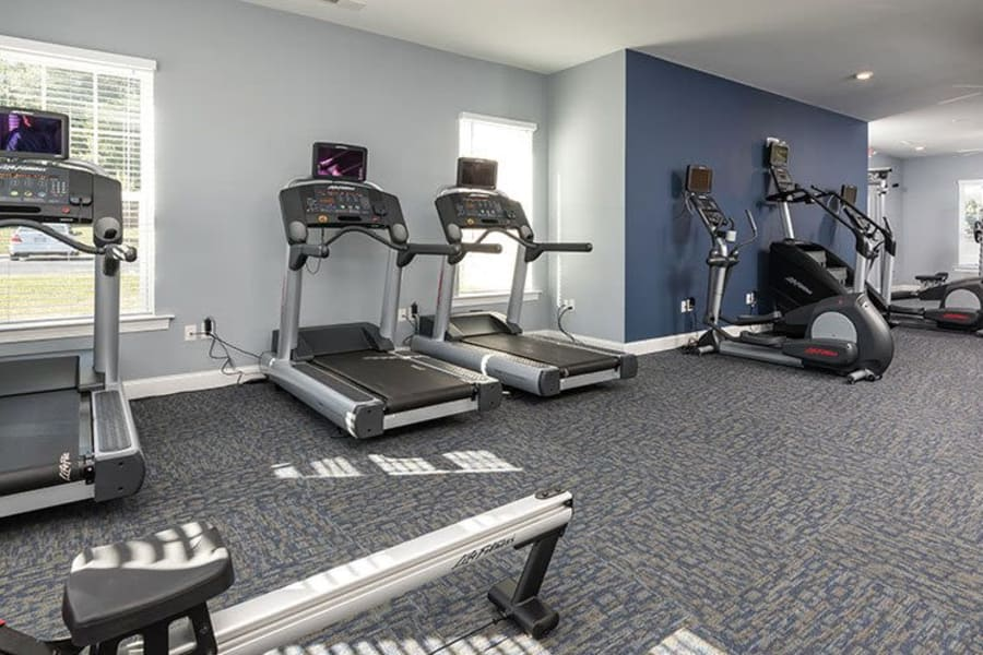 Modern and well-equipped fitness center at The Residences of Westover Hills in Richmond, VA